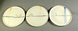 Petite assiette Promeneurs- Atelier Terres d'Angély