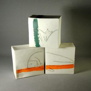 Cube en porcelaine