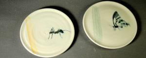 Petites assiette Promeneurs -Atelier Terres d'Angély