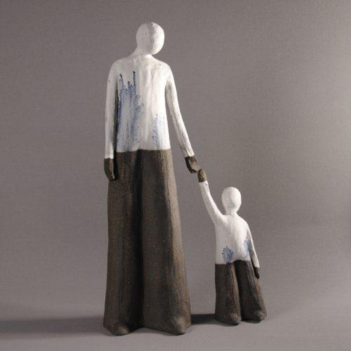 Statuettes modelées - Accompagner - Statuette les Silencieux - Atlier Terres d'Angély