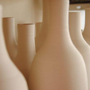 Bouteille porcelaine - Atelier terres d'Angély