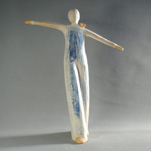 Statuettes modelées- Equilibre- Statuette les Silencieux - Atlier Terres d'Angély
