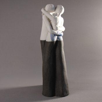 Statuettes modelées - Le baiser - Statuette les Silencieux - Atlier Terres d'Angély