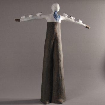 Statuettes modelées - L'oiseau qui murmurait - Statuette les Silencieux - Atlier Terres d'Angély