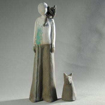 Oustiti - Statuettes modelées les Silencieux - Atlier Terres d'Angély