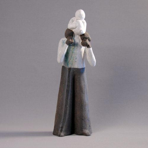 Statuettes modelées en grès