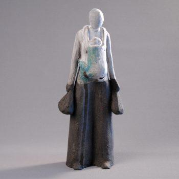 Statuettes modelées - Trop lourd - Statuette les Silencieux - Atlier Terres d'Angély