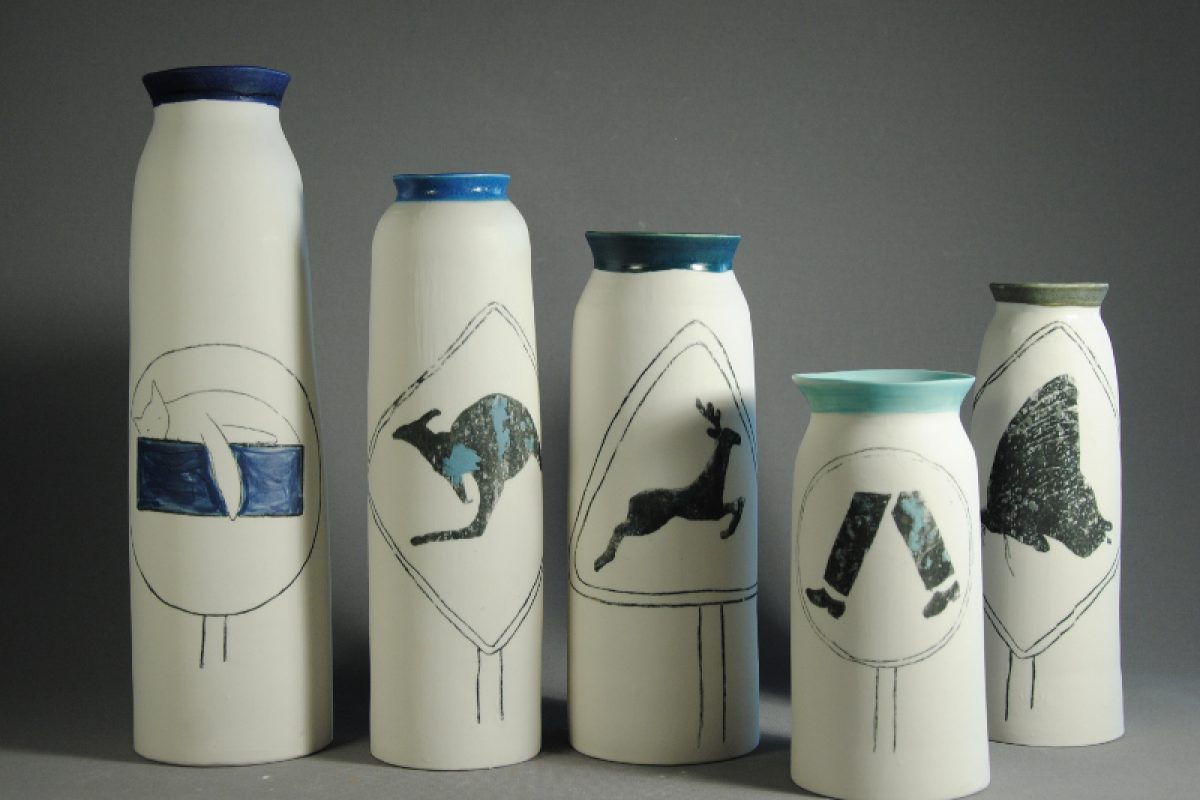 Vases On the road
